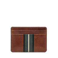 Fossil Men Porte-Cartes Ronnie Marron - One size
