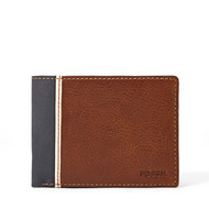Fossil Men Portefeuille Format Voyage Elgin Marron - One size